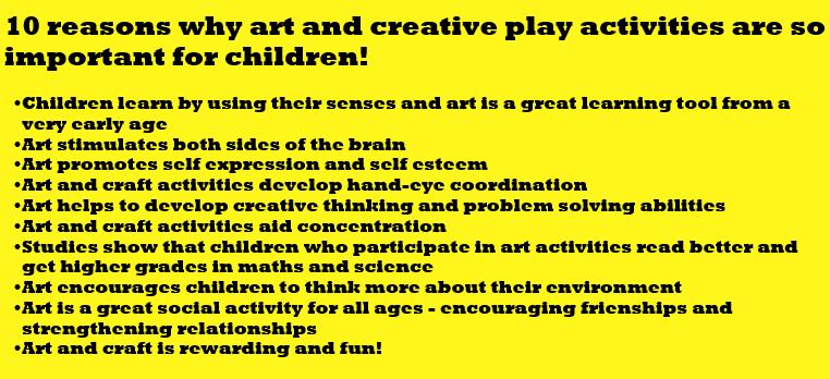 importance of art activities for children
