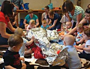 Baby art class