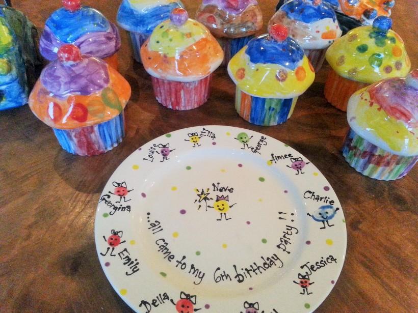 Pottery Painting Birthday Fun!