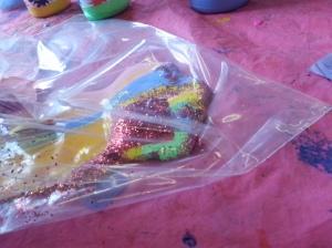 sensory bag activity, toddler sensory play