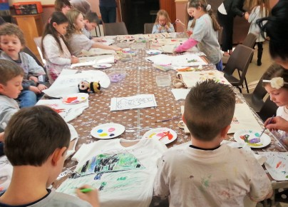 fabric painting party