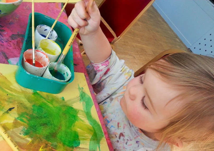 toddler watercolour painting