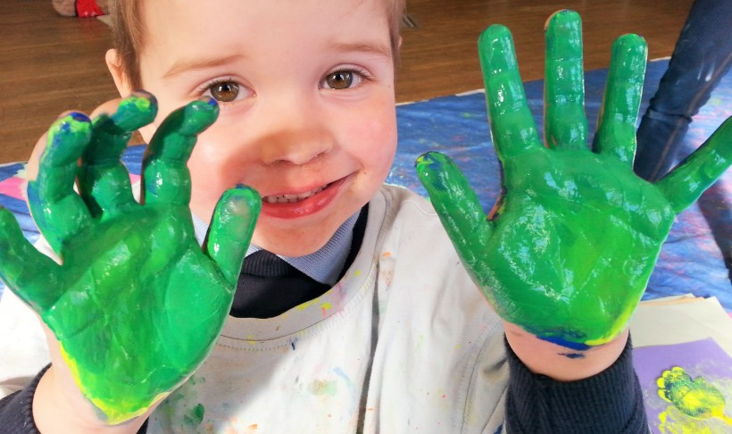 toddler messy play class