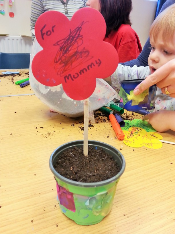 toddler plantpot craft