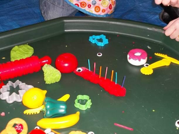 caterpillar playdough